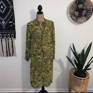 H&M Lime and Navy Duster